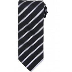 Cravate rayé argent