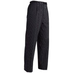 Pantalon de cuisine noir rayé