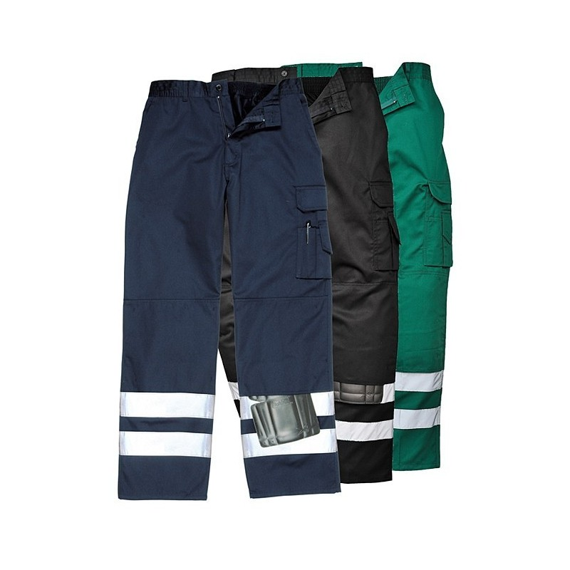 d778ffe1beb55 Pantalon d intervention, 65 % Polyester, 35 % Coton, 245 g m2. Coloris  marine , vert .